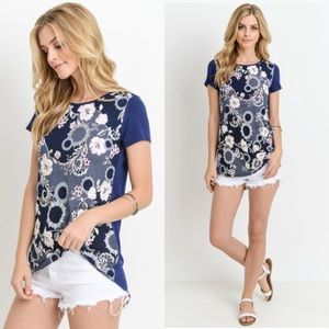 Tops - Short Sleeve Floral Top